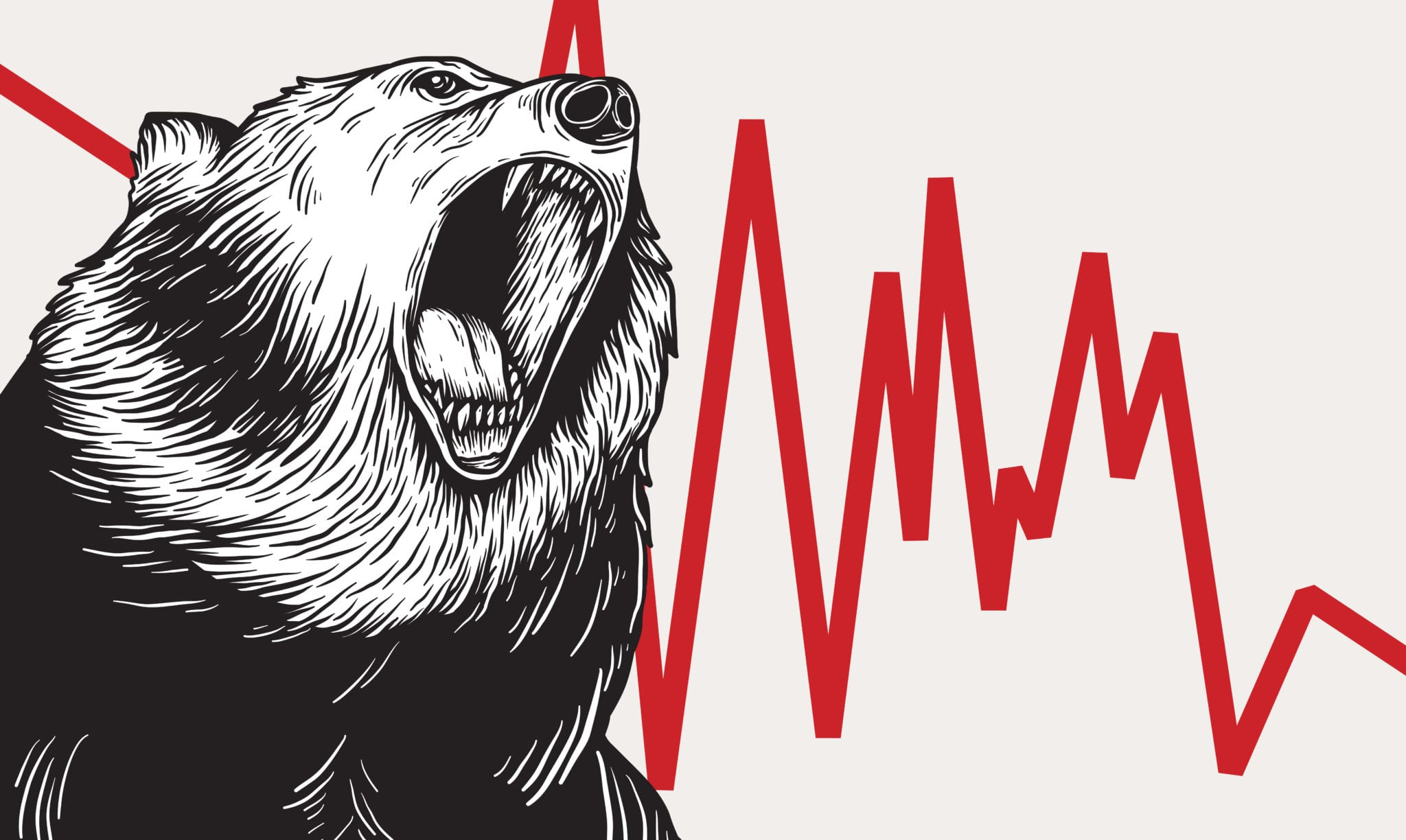 Graphic of bear market